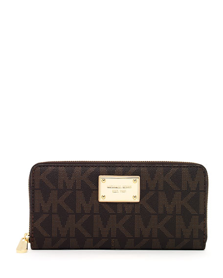 Continental Logo Wallet, Brown, Brown