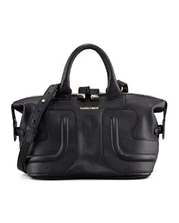 See by Chloe Kay Leather Satchel Bag, Black