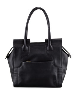 See by Chloe Iris Leather Tote Bag, Black