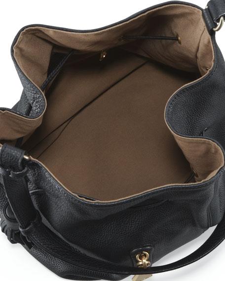 Cherry Bucket-Style Bag, Black