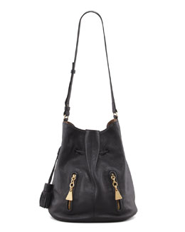 See by Chloe Cherry Bucket-Style Bag, Black
