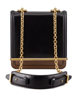 Belstaff Diana Chain Compartment Shoulder Bag, Black/Dark Military
