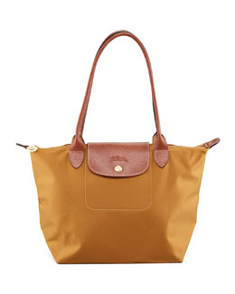Longchamp Le Pliage Small Shoulder Tote Bag, Camel