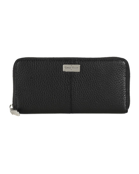 Village Travel Zip Wallet, Black