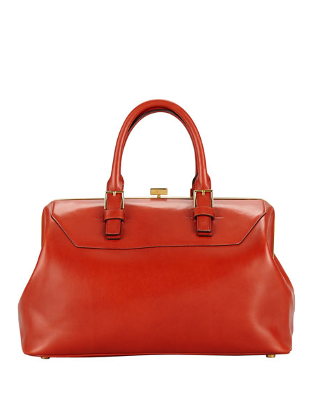 Petra Zip Frame Calf Hair & Brushed Calf Leather Satchel Bag-in-Bag