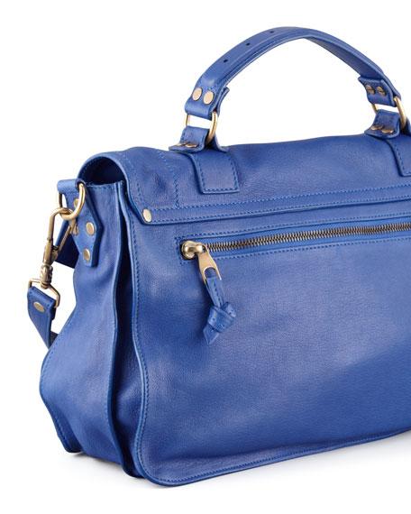 PS1 Medium Satchel Bag, Royal Blue