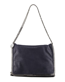 Stella McCartney Falabella Large Flap Shoulder Bag, Navy