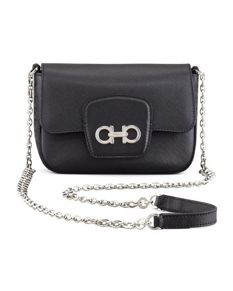Paris Saffiano Crossbody Bag, Black