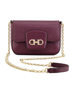 Salvatore Ferragamo Paris Saffiano Crossbody Bag, Wine