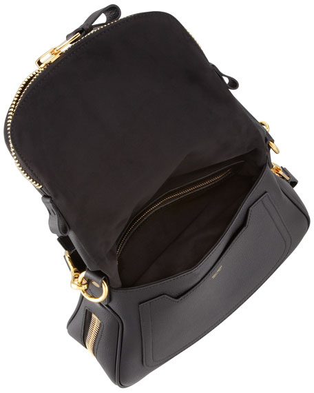 Jennifer Medium Leather Crossbody Bag