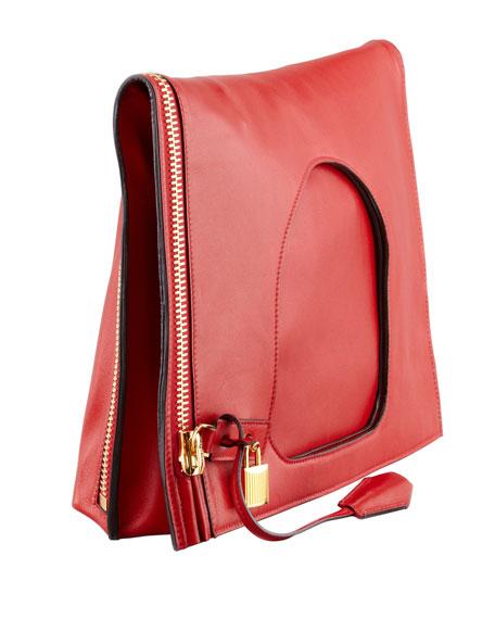 Alix Leather Padlock & Zip Shoulder Bag