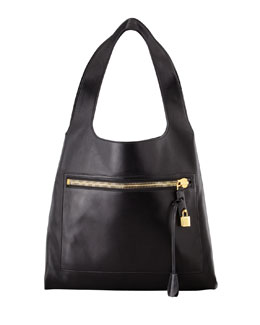 Tom Ford Alexia Zip-Pocket Shoulder Bag