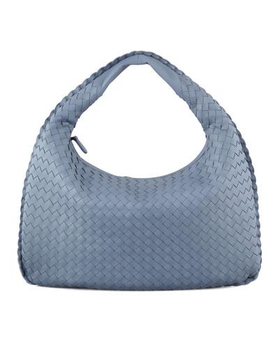 Bottega Veneta Intrecciato Medium Hobo Bag, Blue