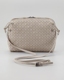Bottega Veneta Veneta Small Crossbody Bag, Gray