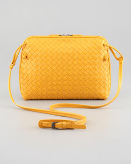 Bottega Veneta Veneta Small Crossbody Bag,Yellow