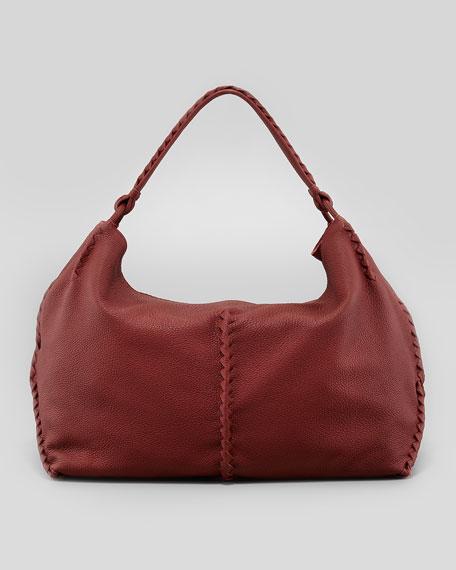 Cervo Large Shoulder Bag, Dark Red