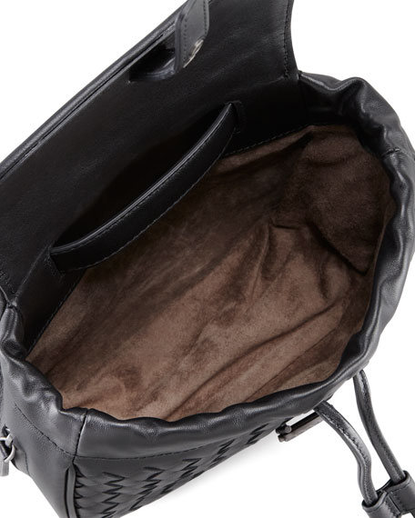 Intrecciato Small Belt Bag, Black