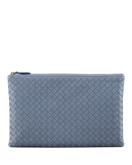 Extra Large Flat Cosmetic Bag, Blue