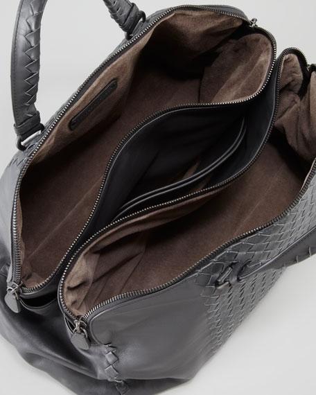 Leggero Intrecciato Tote Bag, Charcoal