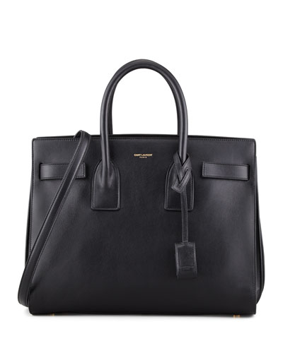 Saint Laurent Sac de Jour Carryall Bag, Black