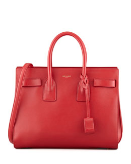 Saint Laurent Sac de Jour Small Carryall Bag, Red
