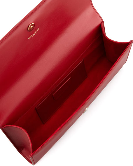 Cassandre Clutch Bag, Red
