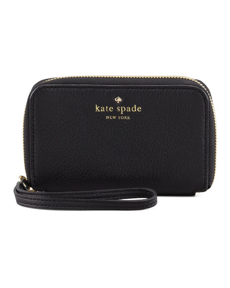 louis phone wristlet wallet, black