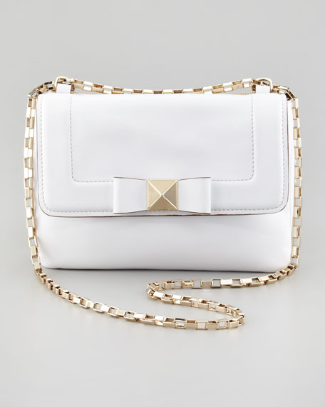 terrace justine bow crossbody bag, white