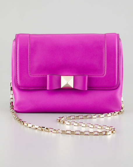 terrace justine bow crossbody bag, rose