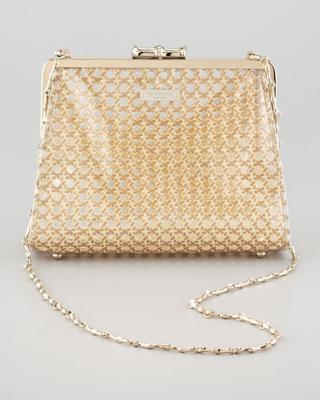 summer house robby pvc caning shoulder bag