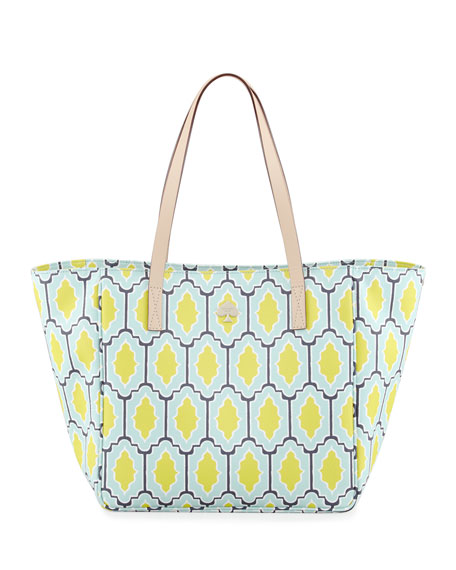 cabana tile sidney tote bag, blue/green