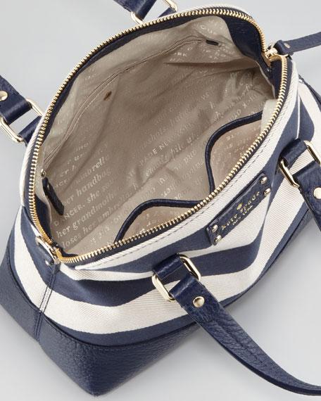grove court striped maise bag, blue