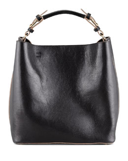 Marni Leather Snap-Liner Bucket Bag