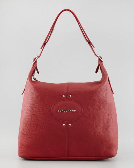 Quadri Leather Hobo Bag, Red