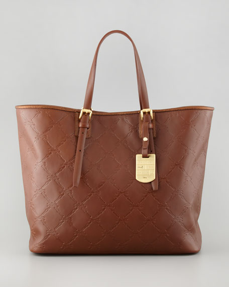 LM Cuir Medium Tote Bag, Brown