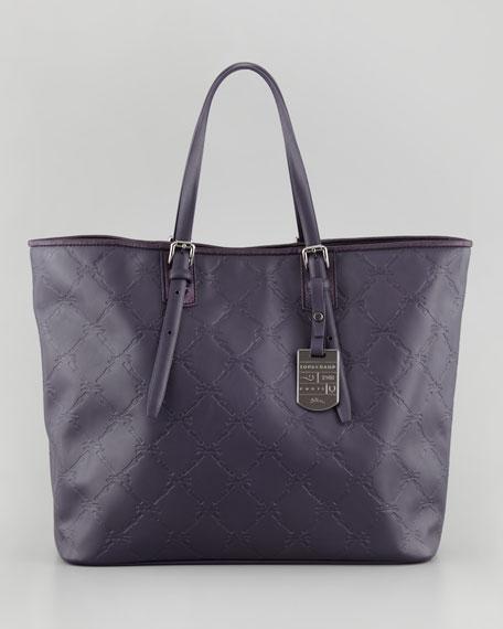 LM Cuir Medium Tote Bag, Dark Purple