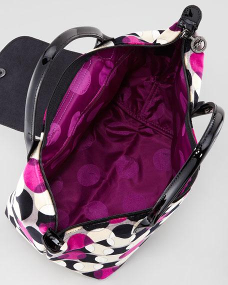 Pois Velvet Handbag, Fuchsia