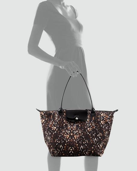 Le Pliage Fauve Shoulder Tote Bag, Multi