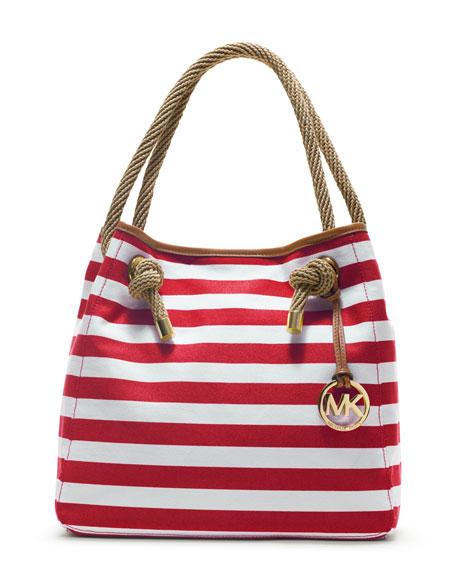 Large Marina Striped Grab Bag