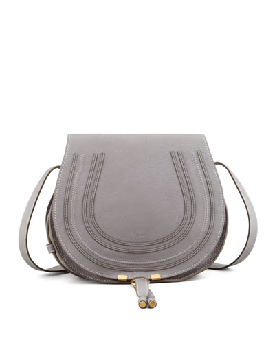 Marcie Medium Crossbody Satchel Bag, Cashmere Gray