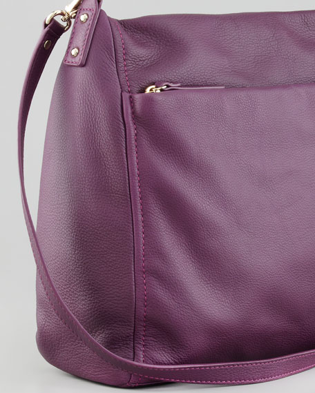 cobble hill curtis hobo bag, plum