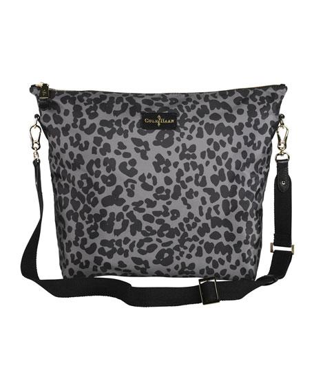 Belport Leather & Leopard-Print Bag-in-Bag, Gray