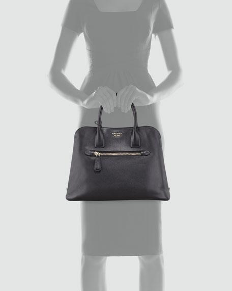 Saffiano Cuir Open Promenade Tote Bag, Black (Nero)