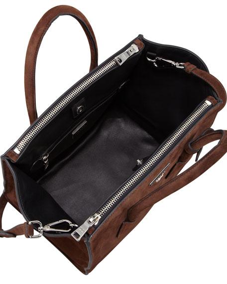 a9497ddfd42e Prada Suede Twin Pocket Tote Bag, Brown (Morgano)