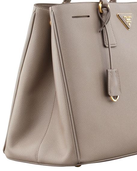 e3bea2385141 Prada Saffiano Gardener's Tote Bag, Gray (Argilla)