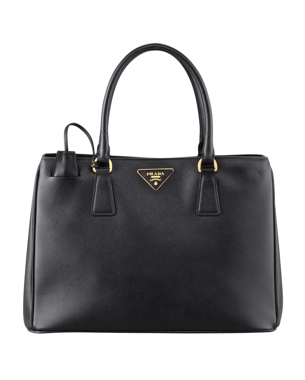 f16564f2ab3f Prada Saffiano Gardener's Tote Bag, Black (Nero) | Neiman Marcus