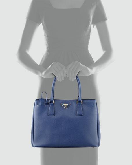 Saffiano Small Gardener's Tote Bag, Blue (Bluette)
