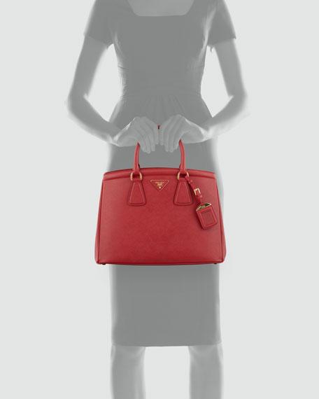 Saffiano Parabole Tote Bag, Red (Fuoco)