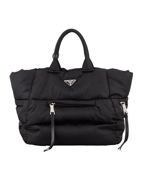d69ff85aaa 11c62 18ed8 new zealand prada tessuto bomber horizontal zip tote bag black  nero 80591 10122 ...