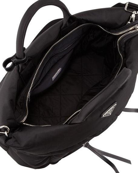 9bf8bd6b9915 Prada Tessuto Bomber Diagonal-Zip Tote Bag, Black (Nero)